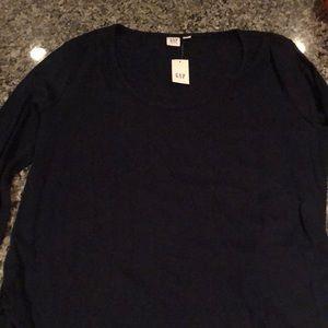 Gap Navy Maternity Long Sleeve Shirt